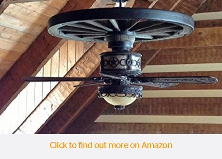 Sheridan wagon wheel western ceiling fan