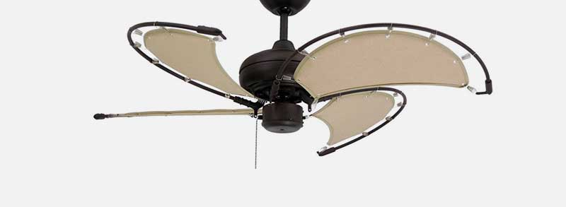 another option in the long list of unique ceiling fans is the troposair voyage ceiling fan this unique fan actually uses khaki fabric for blades giving it - Cool Ceiling Fans