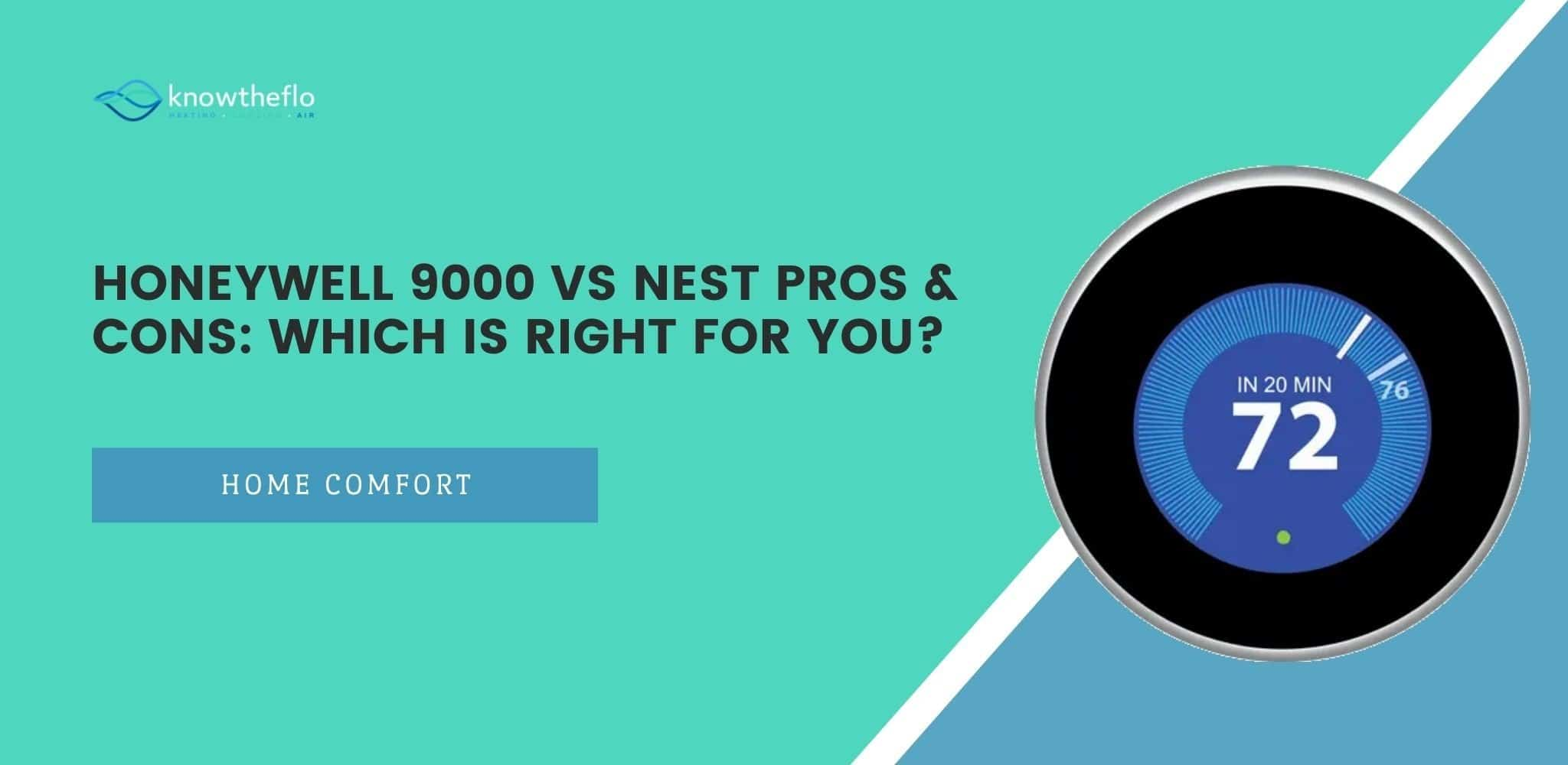 Honeywell 9000 vs Nest Pros & Cons – Which is right for you
