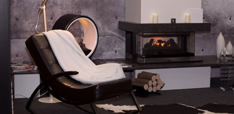 Electric fireplace as a heating method